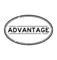 grunge black advantage word oval rubber seal
