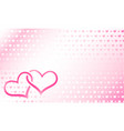 hearts linked vector image vector image