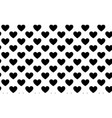 hearts seamless pattern love symbol background vector image