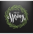 Hello spring Spring wreath Spring flowers are vector image vector image