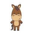 horse animal cartoon vector image vector image
