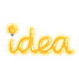 Idea on white vector image vector image