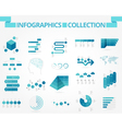 infographics collection blue world vector image vector image