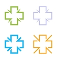 Isolated colorful cross logo set Medical vector image