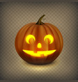 jack o lantern isolated on a transparent vector image vector image
