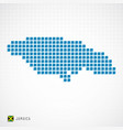 jamaica map and flag icon vector image vector image