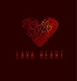love icon concept abstract broken heart symbol red vector image vector image