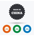 Made in China icon Export production symbol vector image