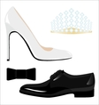 Male and female classic shoes and accessories vector image