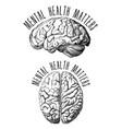 mental health matters human brain vector image vector image
