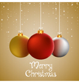 merry christmas to you greeting card vector image vector image