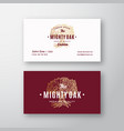 mighty oak abstract logo and business card vector image