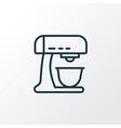mixer icon line symbol premium quality isolated vector image