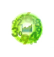 numbers circle green with graph vector image vector image