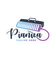 pianica musical instrument logo vector image vector image