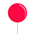 red balloon icon flat style