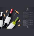 red wine bottle cork vector image vector image