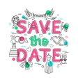 Save the Date - Wedding Background with vector image vector image