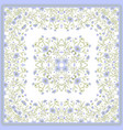 Scarf print design delicate cute flowers square