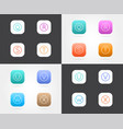 set of app icon templates with guidelines fresh vector image vector image