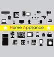 set of home appliance vector image