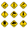 set of woman car driver stickers female in vector image vector image
