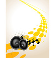 speaker music art vector image vector image