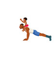 strong african american man doing push up father vector image vector image