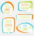 summer banner set logo sticker speech bubble vector image vector image