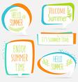 Summer banner set logo sticker speech bubble with vector image