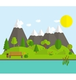 Summer Time Background in Modern Flat Design vector image vector image
