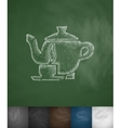 tea icon Hand drawn vector image vector image