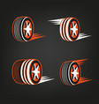 tire shop logo vector image vector image