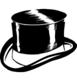 top hat design vector image vector image