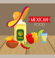 traditional mexican food with chile pepper vector image