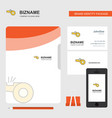 whistle business logo file cover visiting card vector image vector image