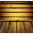 wooden interior vector image