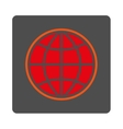 Worldwide Rounded Square Button vector image vector image