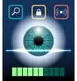 Eye Biometrics vector image