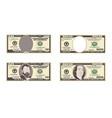 100 50 dollar banknotes vector image vector image
