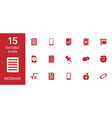15 message icons vector image vector image