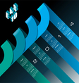 2014 infographic Calendar Blue vector image