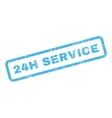 24H Service Text Rubber Stamp vector image