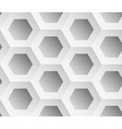 Abstract background gray hexagons vector image vector image