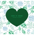 abstract blue and green leaves heart vector image vector image