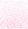 abstract halftone pink square pattern background vector image vector image