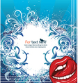 abstract with lips vector image vector image