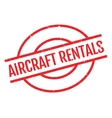 Aircraft Rentals rubber stamp vector image vector image