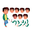 asian teen boy teenager emotional pose vector image vector image