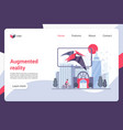 augmented reality landing page template vector image vector image